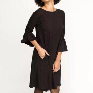Agnes & Dora Black Walker Bloom A-Line Dress XL